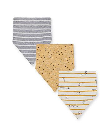 little dino bandana bibs - 3 pack