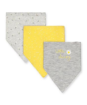 little daisy bandana bibs - 3 pack