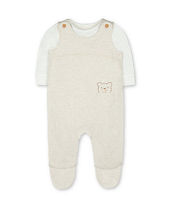 my first wadded bear dungarees and bodysuit set