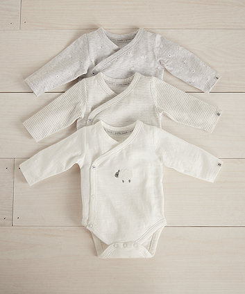 little lamb wrap bodysuits - 3 pack