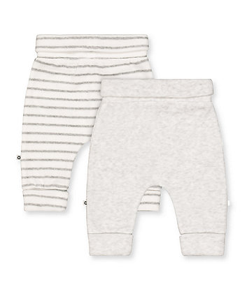 grey and white stripe joggers - 2 pack