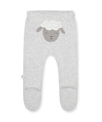 grey lamb knit leggings