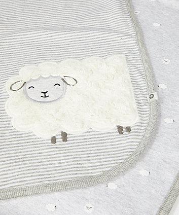 grey velour lamb shawl