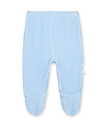 my first blue bear rib velour leggings