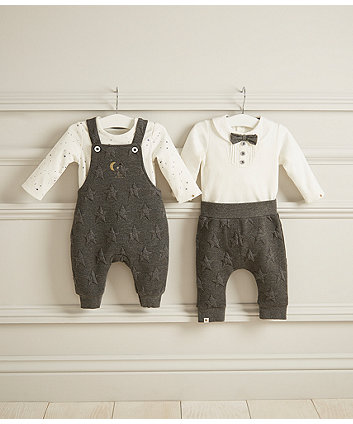 white bow bodysuit and embossed joggers set