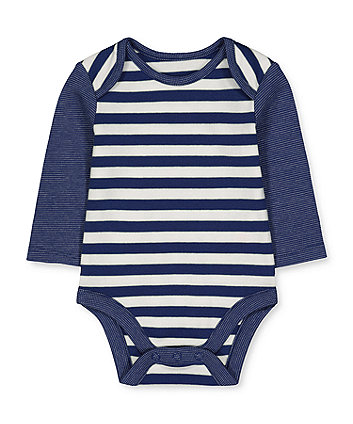 navy stripe bodysuit