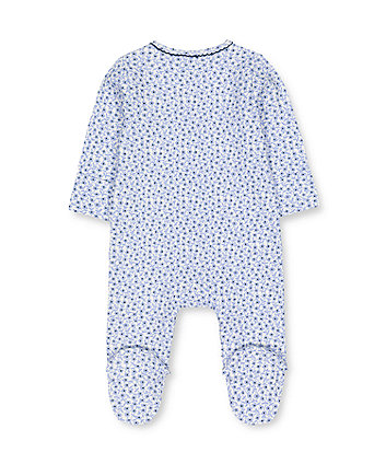 blue floral sleepsuit