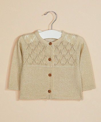 gold lurex cardigan
