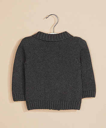 grey knitted blazer