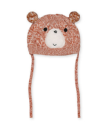 bear hat with ties