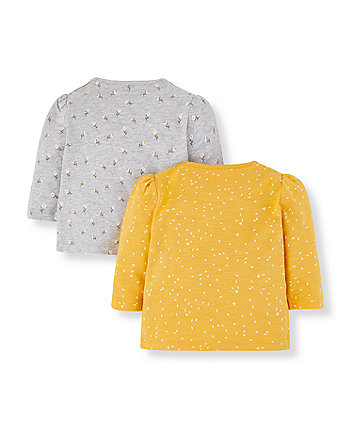 yellow daisy tops - 2 pack