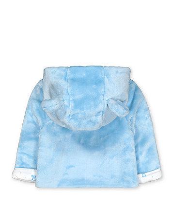 my first fluffy blue bear jacket