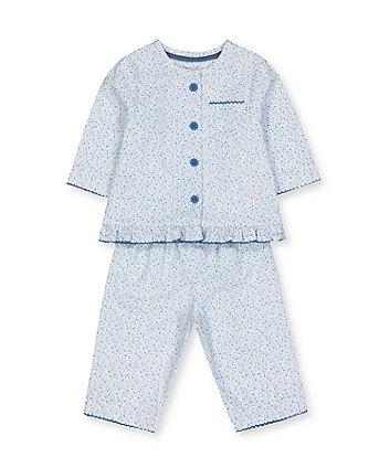 pretty blue floral woven pyjamas