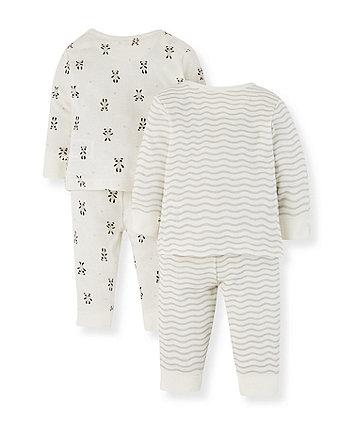 panda pyjamas - 2 pack
