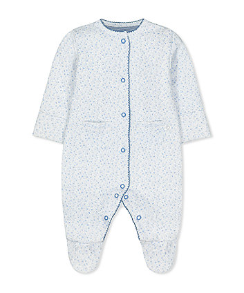 blue ditsy wadded walk in sleeper