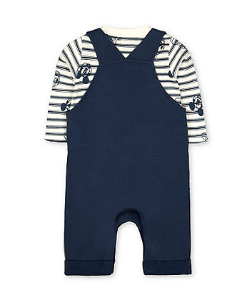 Disney mickey mouse dungarees and bodysuit set