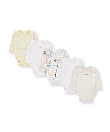 mummy and daddy animal bodysuits - 5 pack