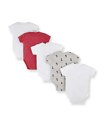 london bear guardsmen bodysuits - 5 pack