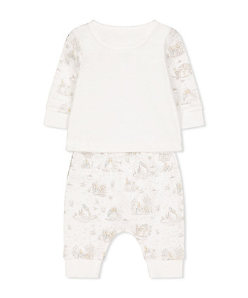 peter rabbit white t-shirt and joggers set