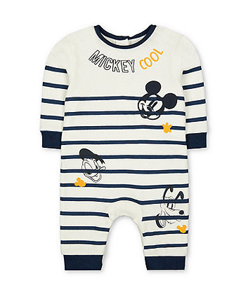 Disney mickey mouse stripe all in one