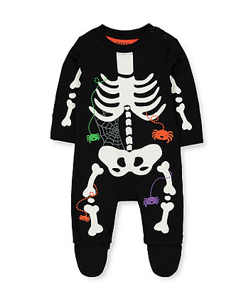 halloween glow in the dark skeleton all in one