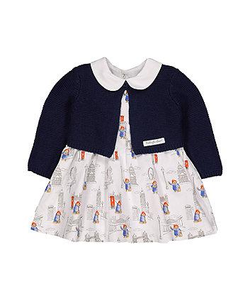 paddington bear dress and cardigan