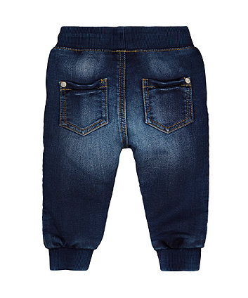mid-wash jogger jeans
