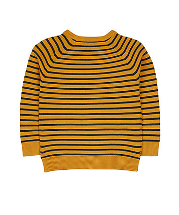 mustard striped knitted jumper