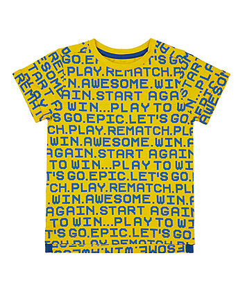 yellow tech play t-shirt