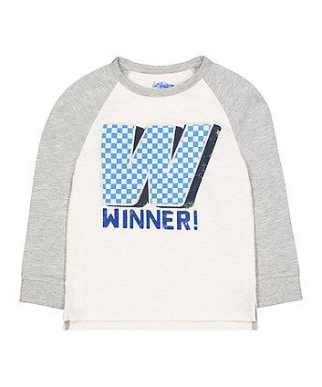 winner raglan sleeve t-shirt