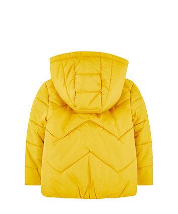 yellow padded jacket with fleece lining