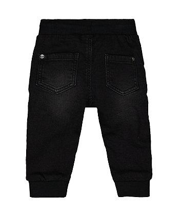 black jogger jeans
