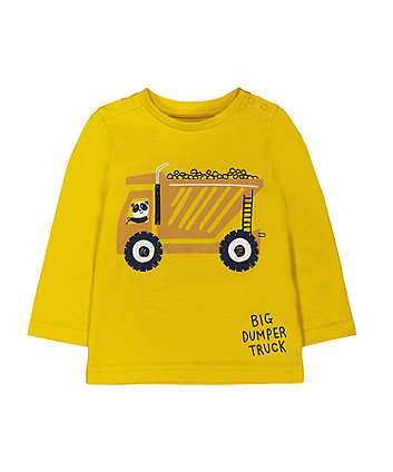 yellow panda dumper truck t-shirt