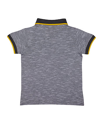 grey star polo t-shirt