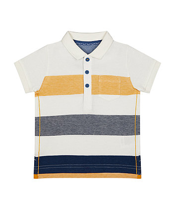 multicolour stripe polo shirt