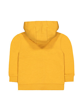 mustard bear zip-through hoodie