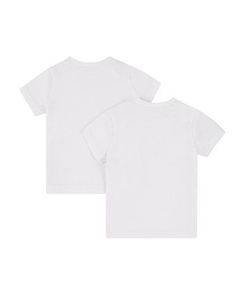 white logo t-shirt - 2 pack
