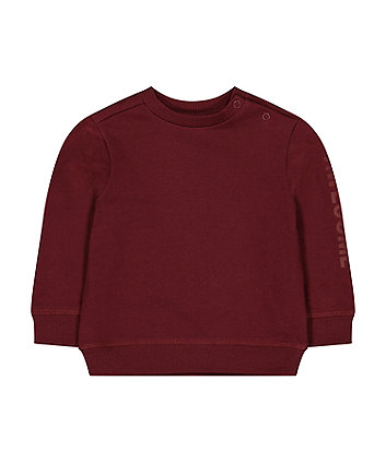 burgundy awesome sweat top