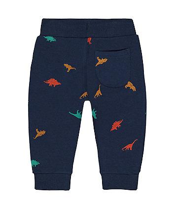 navy dinosaur joggers