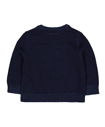 navy bear knitted jumper