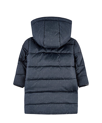 navy longline padded coat