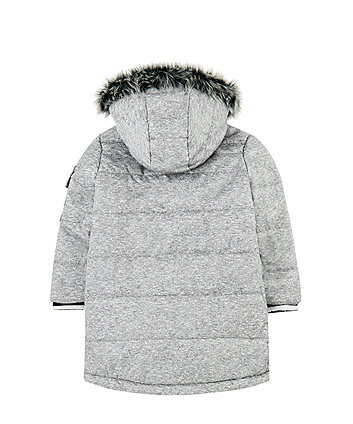 grey longline padded coat