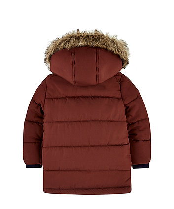 burgundy padded coat