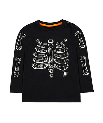 glow in the dark skeleton t-shirt