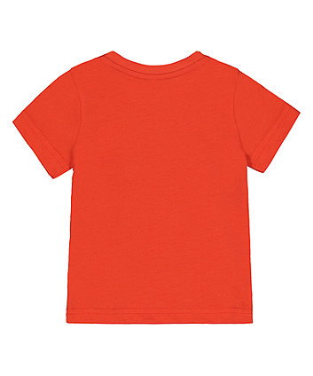 orange dinosaur t-shirt
