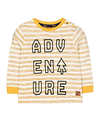 mustard stripe adventure t-shirt