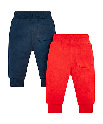 red and navy joggers - 2 pack