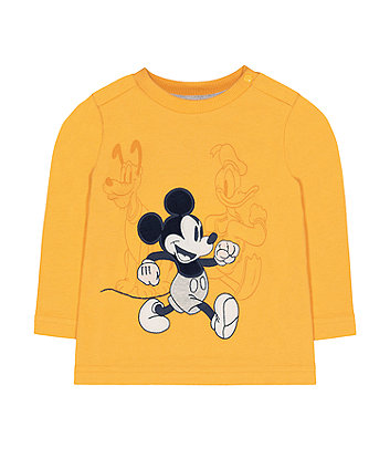 Disney mickey mouse and friends mustard t-shirt