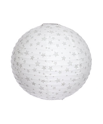 mothercare grey star paper light shade