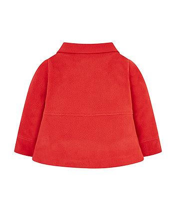 red fleece swing jacket